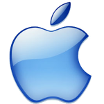 Apple Logo - blue glass