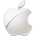 Apple Logo - glass